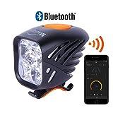 Magicshine MJ 906B Bluetooth Front Bike Light, 5X CREE LED Waterproof Bicycle Light, 3200 Lumen max Actual Output. USB Rechargeable Mountain Bike Light, programmable, Waterproof MTB Light.