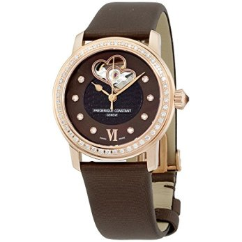 Frederique Constant Double Heart Beat Stainless Steel Plated Rose Gold Watch for Women