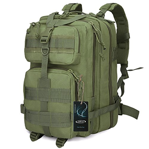 G4Free Sport Outdoor Military Rucksacks Tactical Molle Backpack Camping Hiking Trekking Bag Custom Design 40L(Army Green)