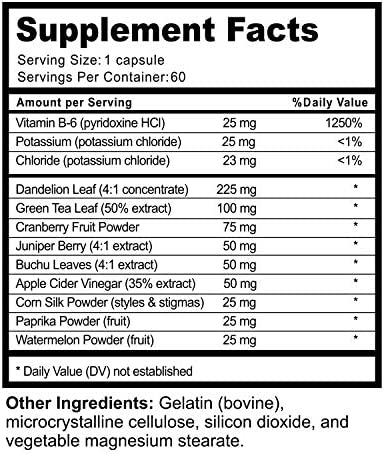 Water Pills for Bloating – Premium Weight Loss Supplement for Women and Men – Reduce Water Retention – Antioxidant Green Tea and Vitamin B6 Boost Metabolism and Energy – Maximum Strength Fat Burner 11