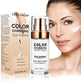 Foundation Cream,Liquid Foundation,Hides Wrinkles & Lines,BB Cream,Covering Imperfections Liquid Complete Foundation Cover, Fluid Foundation Color Changing Flawless,Universal Shade for ALL Skin Types
