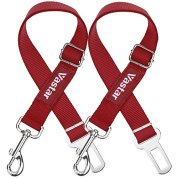 Vastar-2-Piece-Adjustable-Pet-Dog-Cat-Car-Seat-Belt-Safety-Leads-Vehicle-Seatbelt-Harness-Made-from-Nylon-Fabric-Red