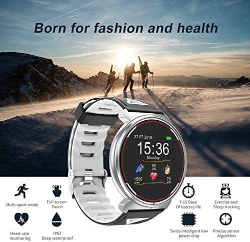 Smart Watch for iOS Android Phones, AIVEILE 2020 Version Activity Fitness Tracker Bluetooth Bracelet Waterproof Smartwatch with Blood Pressure Monitor Compatible Samsung iPhone for Men Women Kids 6