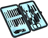 15-Piece Manicure Set for Women Men Nail Clippers Stainless Steel Manicure Kit - Portable Travel Grooming Kit - Facial, Cuticle and Nail Care - by Utopia Care