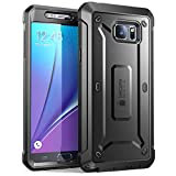 Samsung Galaxy Note 5 Case, SUPCASE [Heavy Duty] Belt Clip Holster Case for Galaxy Note 5 [Unicorn Beetle PRO Series] Full-Body Rugged Cover with Built-in Screen Protector/Bumpers (Black/Black)