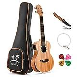Donner Solid Electro-acoustic Ukulele Electric Concert Ukulele EQ 23 inch Mahogany Body DUC-4E