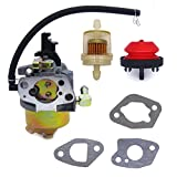 FitBest Carburetor with Primer Bulb Fuel Filter Gaskets Replaces MTD Troy Bilt Cub Cadet Snow Blower 951-14026A 951-14027A 951-10638A