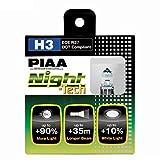 PIAA 10703 H3 Night Tech High Performance Halogen Bulb, (Pack of 2)