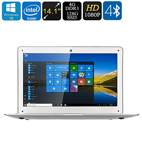 Jumper Ezbook i7 Laptop PC - Intel Core i7 CPU, 4GB RAM, 14.1 Inch 1080P Display, 128GB SSD, SD, Wi-Fi, BT 4.0, RJ45, USB