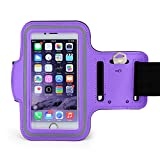 Minisuit Sporty Armband Running Gym Mobile Phone Running Cover Arm Band for Iphone 6 plus/6splus. (purple)