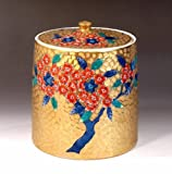 Arita - Imari | green tea bowl - tea utensils | Somenishiki golden Sakura-e water finger Fujii NishikiAya