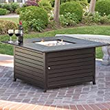 Best Choice Products 45x45in Extruded Aluminum Square Fire Pit Table for Outdoor Patio w/Weather Cover, Tank Storage