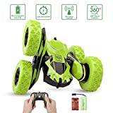 Sugoiti Remote Control Stunt Car Rc 4WD Off Road Rechargeable 2.4Ghz 3D Deformation Racing Car,Double Sided Rotating Tumbling 360° Flips Off Road High Speed 7.5Mph Truck, Including Battery