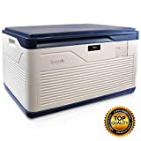 SereneLife Locking Storage Container Bin - 37 Gallon Large Capacity - Stackable Storage Tote Deck Tough Box - Durable Plastic Household Organizer Bins with Lid, Combination Lock Security - SLSBIN30