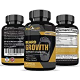 Beard Hair Growth Support Supplement-Achieve a Longer, Thicker, Fuller Beard. Grow a Manlier, Healthier Beard & Mustache. Natural Vitamin for any Beard Grooming Regimen with Biotin for Men.