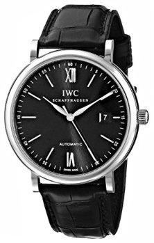 IWC Men's IW356502 Portofino Automatic Black Dial Watch