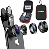 phone camera lens 4 in 1 Kit, for Most Smartphones & Tablets, Telephoto, Fisheye, Wide Angle, X-Wide Angle, CPL, Macro Lens