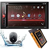 Pioneer AVH-210EX Double DIN Bluetooth in-Dash DVD/CD/AM/FM/Digital Media Car Stereo Receiver w/ 6.2' WVGA Touchscreen Display with Gravity Magnet Phone Holder