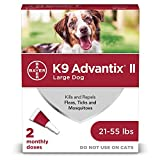 Bayer K9 Advantix II Flea, Tick and Mosquito prevention for Large Dogs 21 - 55 lbs, 2 doses