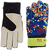 adidas Predator Junior Manuel Neuer Goalkeeper Gloves, Solar Yellow/Football Blue/Active Red, Size 4