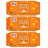 Bey Bee Water Base Baby Wipes for Sensitive Skin, 80 Wipes (Pack of 3)
