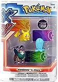 Pokemon XY Basic Gogoat, Wobbuffet & Pikachu Figure 3-Pack