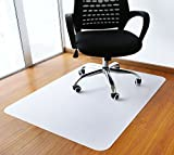 Polytene Office Chair Mat, 47'x35', 1.8mm Thick Hard Floor Protection with Rectangular Shaped Anti Slide Coating on The Underside,White,Thickness 1.8mm