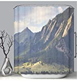 BEICICI Color Shower Curtain Liner Anti-Mildew Antibacterial Boulder Colorado Flatirons in Fall Custom Shower Curtain Bathtub Bathroom Accessories 54W×78Linch