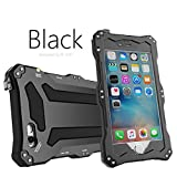 iPhone 6 Case,iPhone 6S Case,bpowe Gundam Gorilla Glass Aluminum Metal premium protection Shockproof Military Bumper Heavy Duty Sturdy Protective Cover Shell Case for Apple iPhone 6 6S 4.7inch (Black)