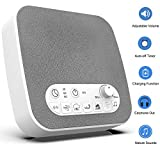 BESTHING White Noise Machine, Sleep Sound Machine - 7 Sounds, USB Output Charger, Adjustable Volume, Headphone Jack and Auto-Off Timer, Portable Sound Therapy for Home, Office or Travel