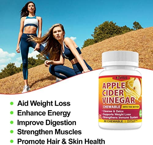 (2 Pack)Organic Apple Cider Vinegar Pills with The Mother for Weight Loss, Detox & Cleanse, ACV Pills for Women, Vegan Apple Cider Vinegar Tablets 1000mg Alternative to ACV Gummies, Capsules-120 Tabs 3