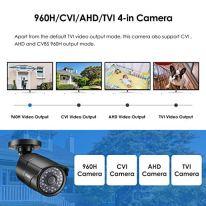 ZOSI-20MP-HD-1080p-1920TVL-Bullet-OutdoorIndoor-Security-Camera-Hybrid-4-in-1-HD-CVITVIAHD960H-Analog-CVBS36PCS-LEDs100ft-IR-Night-VisionWeatherproof-Surveillance-Camera-Black
