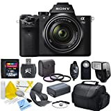 Sony ILCE7M2K/B Alpha a7II Mirrorless Digital Camera with FE 28-70mm f/3.5-5.6 OSS Lens & CS Essential Package: Includes Transcend 32GB SDHC 30MB/s 200x Memory Card, SD Card Reader, Memory Card Wallet, SLR Hand Strap, Lens Cap Keeper, Wireless Shutter Release, Tulip Lens Hood, Shoe Mount Flash, Weather Resistant Carrying Case, High Resolution 3 Piece Filter Kit (UV,CPL,FLD) Sony NP-FW50 Replacement Battery, Brush Blower, Cleaning Kit, LCD Screen Protectors & CS Microfiber Cleaning Cloth