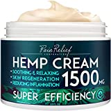 Hemp Pain Relief Cream (1500 Mg) - Natural Hemp Extract Cream for Arthritis, Back Pain & Muscle Pain Relief - Efficient Inflammation Cream & Carpal Tunnel Relief - Made in USA - Good for Skin Health