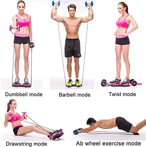 Darhoo Ab Roller Wheel - Ab Wheel Exercise Fitness Equipment - 5-in-1 Multi-Functional Core Ab Workout Abdominal Wheel Machine - Ab Roller Home Gym Equipment for Both Men & Women 5
