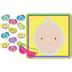 """Pin The Pacifier Baby Shower Game, 17"""" x 18.5"""""""