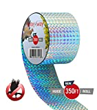 Premium Quality Bird Deterrent Reflective Scare Tape 350 ft Long - Pest Control Dual-sided Repellent Tape For Pigeons, Grackles, Woodpeckers, Geese, Herons, Blackbirds & More - Sturdy & Ultra Strong