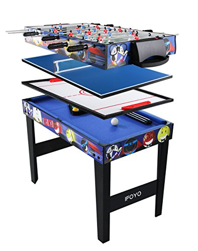 IFOYO 4 in 1 Multi Game Table for Kids, 31.5 Inch Steady Combo Game Table, Soccer Foosball Table,...