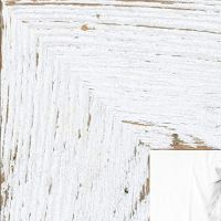 ArtToFrames 24x36 inch Real Reclaimed White Barnwood 2.5 Inch Wood Picture Frame, WOMRFB-250-WHT-24x36