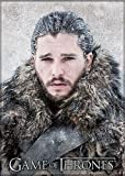 Ata-Boy Game of Thrones Jon Snow 2.5' x 3.5' Magnet for Refrigerators and Lockers