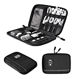 BAGSMART Electronic Organizer Travel Universal Cable Organizer Electronics Accessories Cases for Cable, Charger, Phone, USB, SD Card, Black