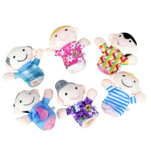 6 x Finger Puppets. Happy Family Member Figure Puppet Set. Toddlers and Preschoolers' Favorite by Generic