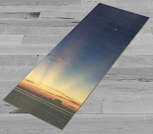 Pimp My Yoga Mat - Moon and Venus Sunrise - Original Artwork 72x24 in Yoga Mat / Pilates Mat, 1/8 in Thick