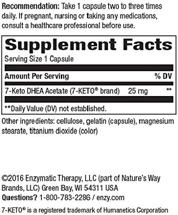 Enzymatic Therapy 7-KETO3 DHEA Metabolite, 25mg Potency, 60 Capsules 4