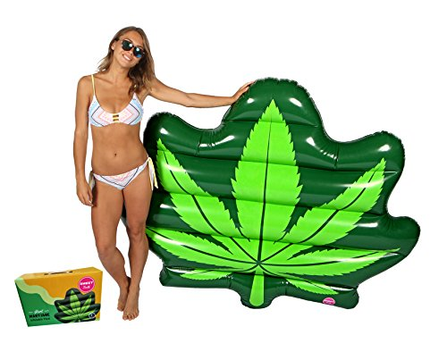 Original Giant Weed Leaf Pool Floats For Adults - Mary Jane Swimming Inflatable Float as Adult Swim Toys
