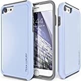 iPhone 8 Case/iPhone 7 case, TEAM LUXURY Ultra Defender TPU + PC [Shock Absorbent] Premium Protective Case - for Apple iPhone 7 & 8 (Serenity/Gray)