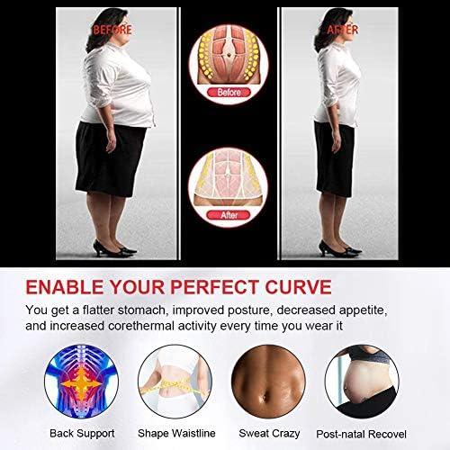 FeelinGirl Women Neoprene Sweat Waist Trainer Corset Trimmer Belt Waist Cincher Body Shaper Slimming 3