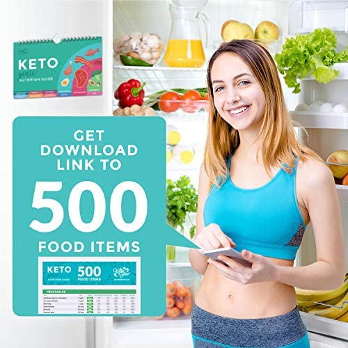 Willa Flare Keto Cheat Sheet Magnets - Easy Reference for 192 Keto Snacks and Foods! Correct Ketogenic Measurements for your Keto Cookbook - Easy Keto Diet Fridge Guide PLUS Extra List of 500 Foods 10