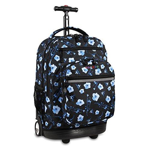 J World New York Sundance Laptop Rolling Backpack, Night Bloom, 19'