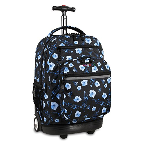 J World New York Sundance Laptop Rolling Backpack, Night Bloom, 19'